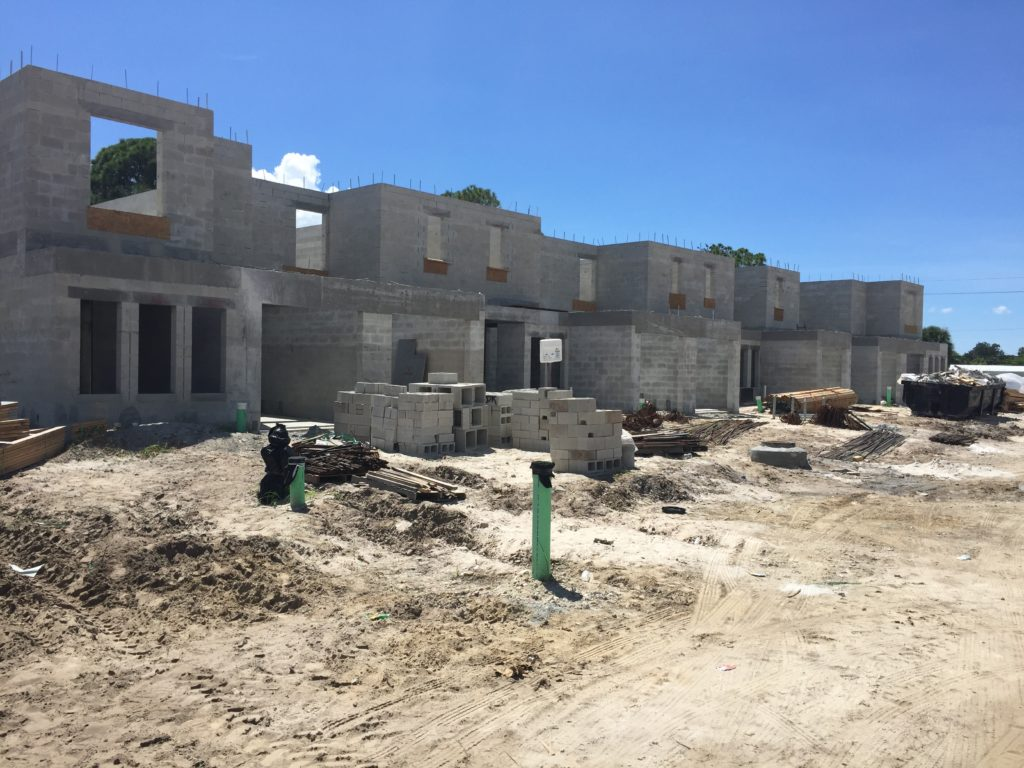 Multi-family townhome Construction Fort Myers